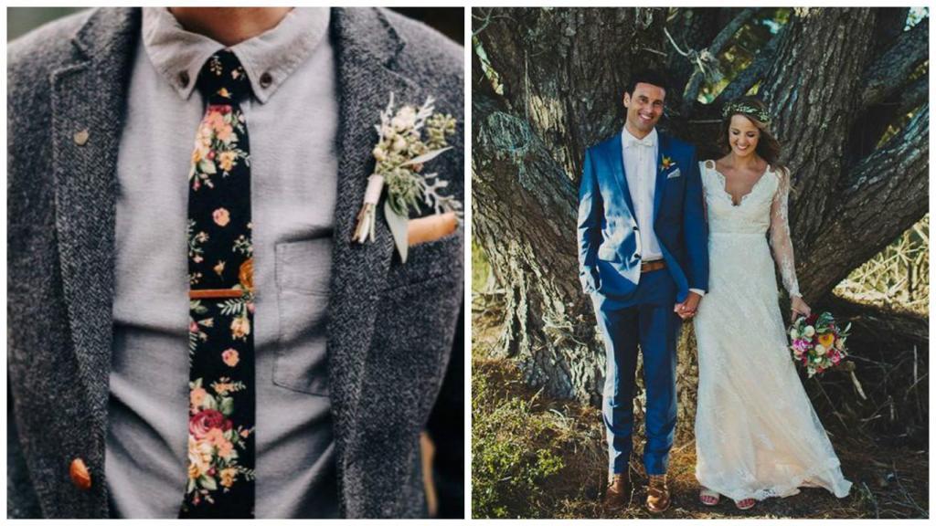 trajes de novio bohemios