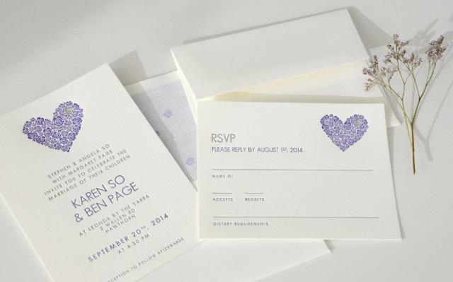 Mil Letterpress (Participaciones) | Casamientos Online