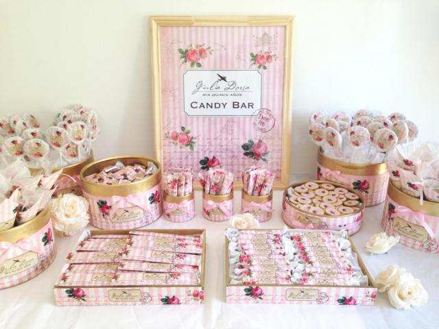 CANDY BAR MODELO SHABBY CHIC | Casamientos Online