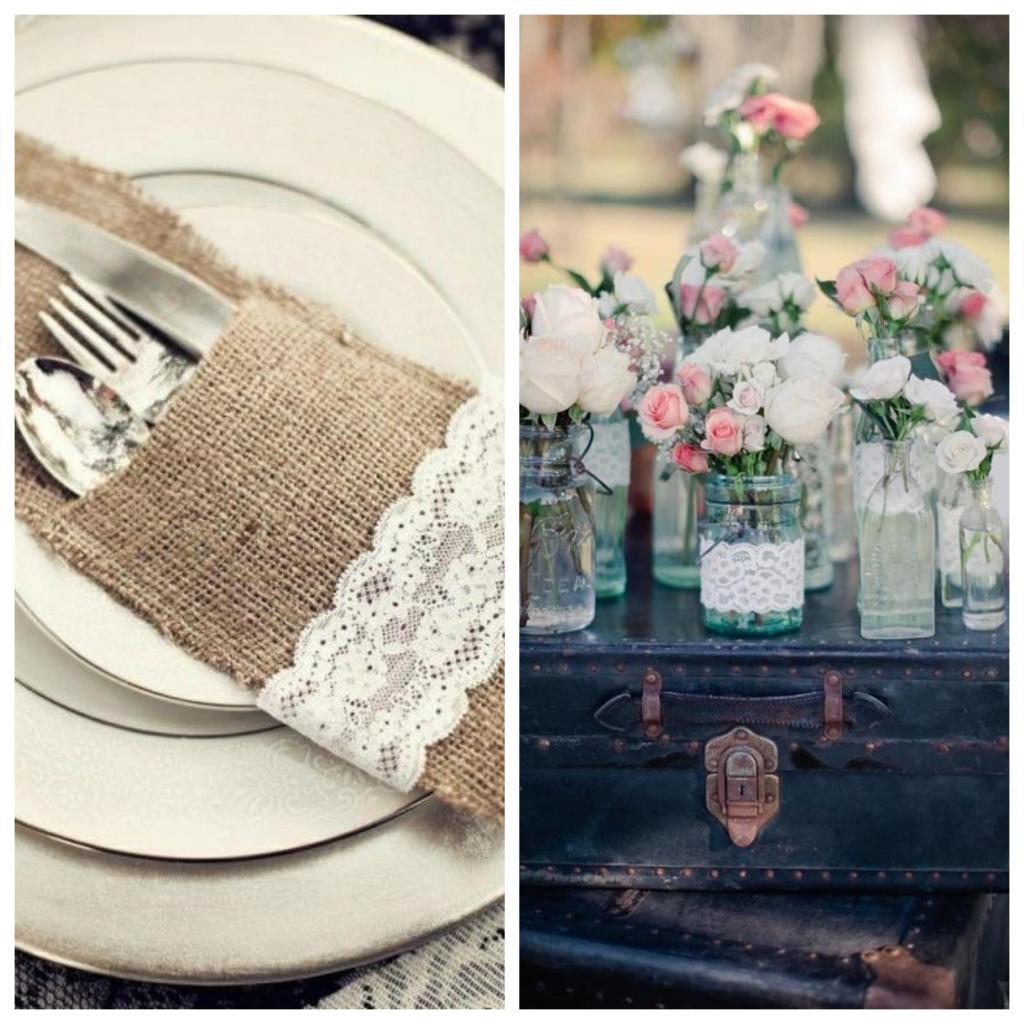 como decorar una boda vintage