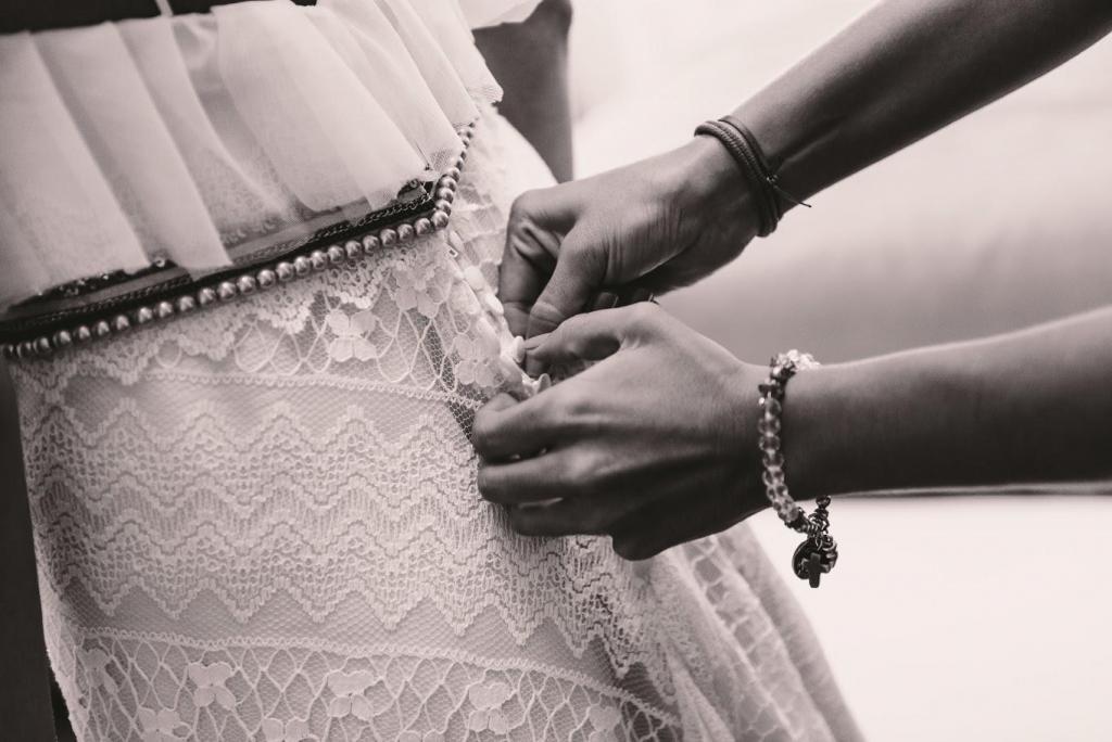 espalda de vestido de novia maria magnin