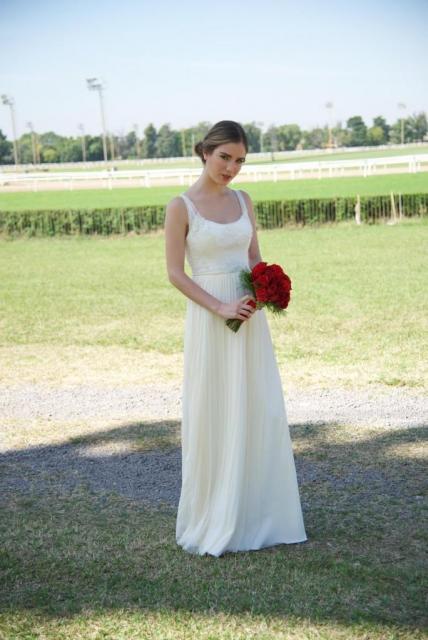 Vestido de tul borado y microtul | Casamientos Online