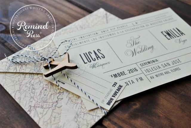 Vintage Ticket | Casamientos Online