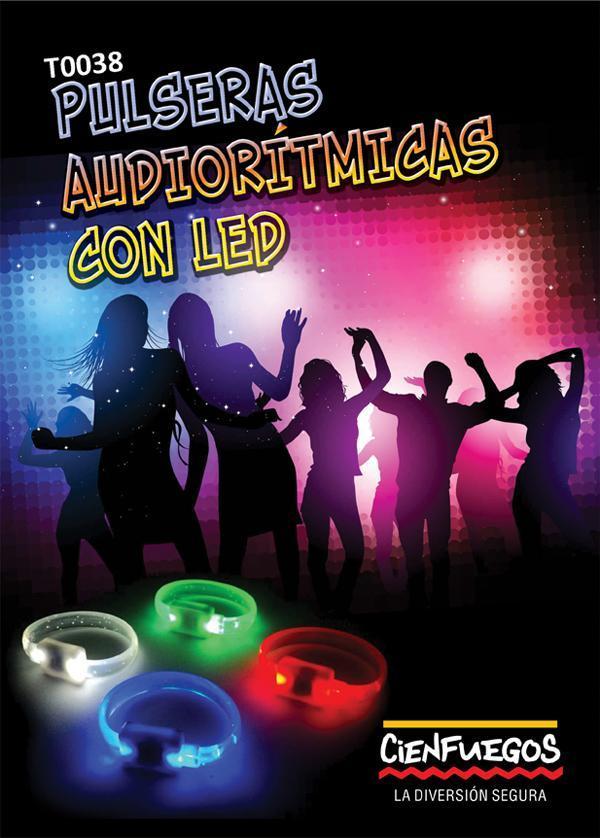 Pulseras Audioritimicas con led