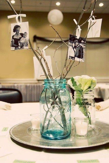 souvenirs de fotos y centros de mesa