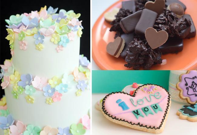 Bombones de chocolate, cupcakes y cookies como souvenirs de casamiento