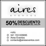 50% de descuento en..., Salones, Quintas y Estancias