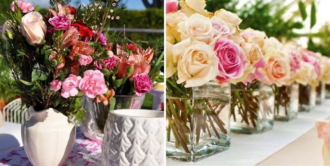 Ambientacion de Casamientos al aire libre, Centros de mesas con flores by Save The Date & CO