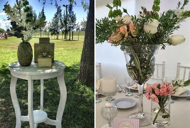 Decoracion de Casamientos sencillos. Ideas para ambientar con Flores y livings