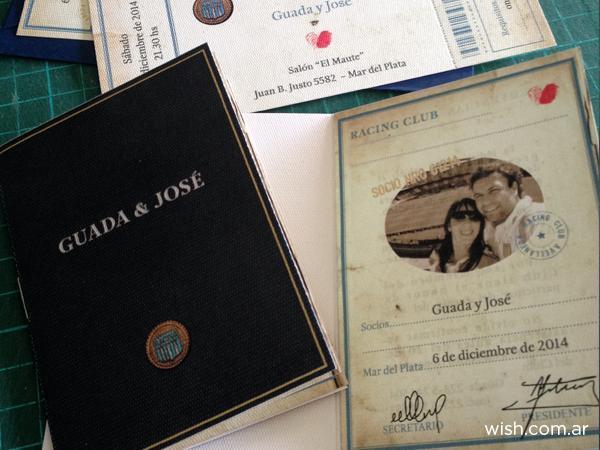 Invitación de Racing | Casamientos Online
