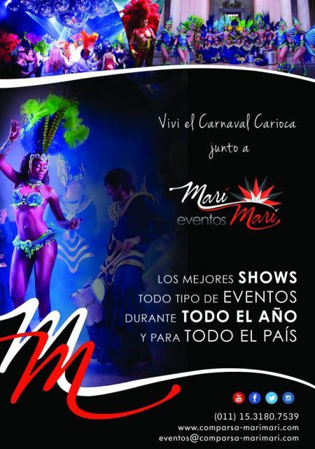 COMPARSA MARÍ MARÍ -  SHOWS DE CARNAVAL www.comparsa-marimari.com / eventos