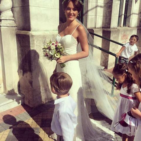 gasa de seda y macramé | Casamientos Online