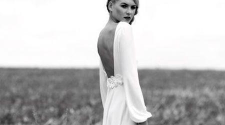 vestido de novia con manga larga