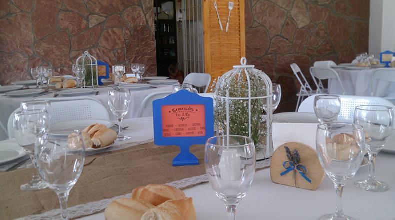 Ambientacion, decoracion y centros de mesa para casamientos. Don Roque Eventos