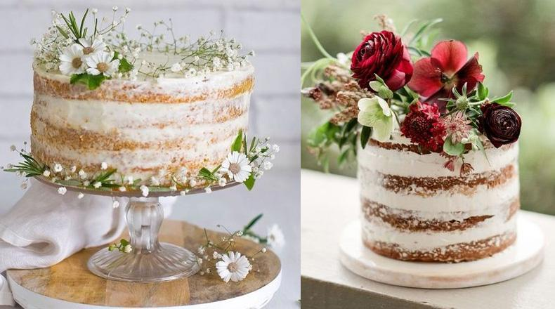Naked Cake, la última tendencia en pasteles de boda