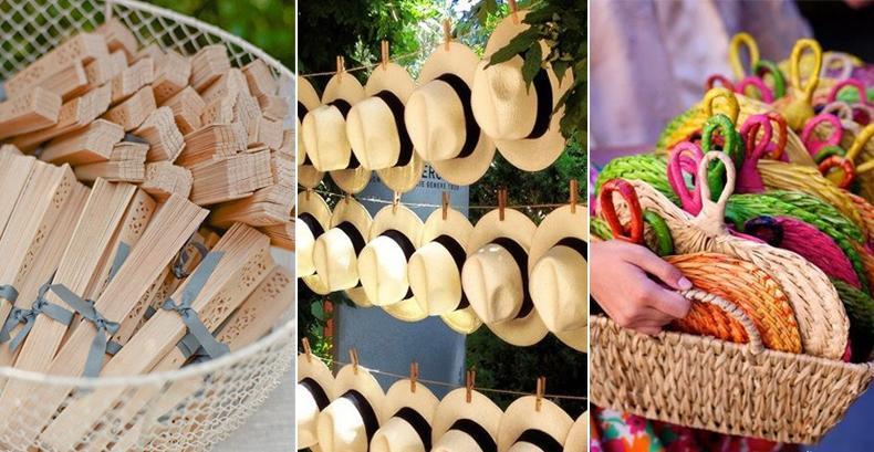 Abanicos y Sombreros para bodas de verano