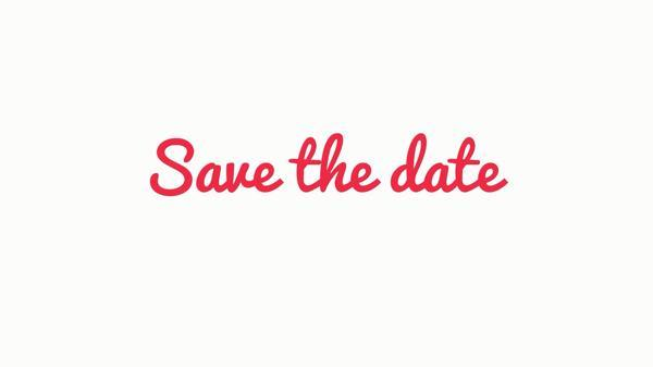 Save the Date Animados
