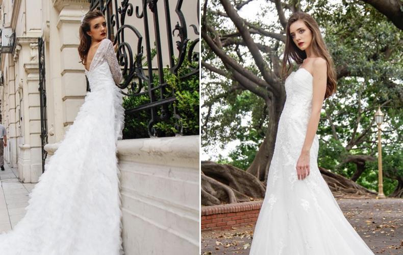 Vestidos de Novia minimalistas. Para todo estilo de novia, rellenitas, flacas, altas o bajas.