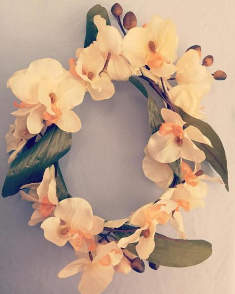 Corona de orquídeas