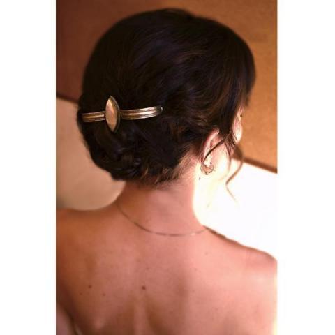 peinado novia, recogido con trenzas y tocado | Casamientos Online