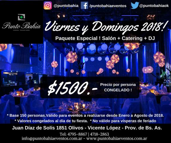 VIERNES Y DOMINGOS 2018!