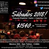 SABADOS 2018! SALON + CATERING + DJ