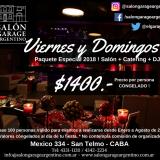 VIERNES Y DOMINGOS 2018! SALÓN+CATERING+DJ