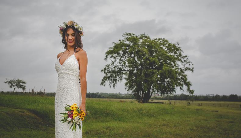 vestidos de novia campestres para casamientos al aire libre