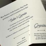 Participaciones de Casamiento en Letterpress