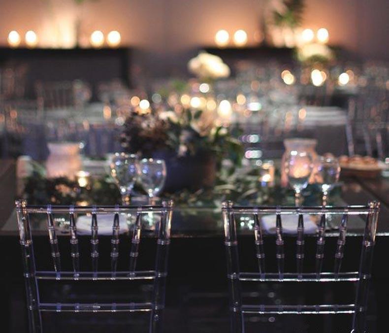 sillas tiffany para ambientar el casamiento
