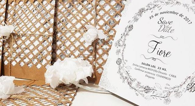 Tarjetas sobre calado | Casamientos Online