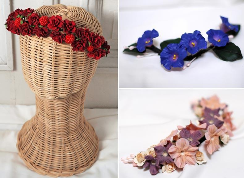 tocados, vinchas de flores para novias