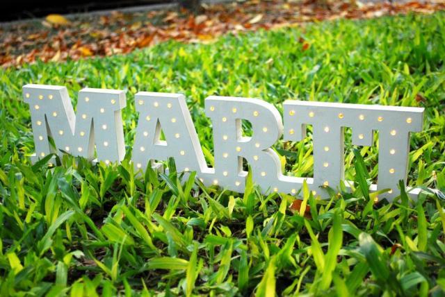Letras luminosas   Casamientos Online