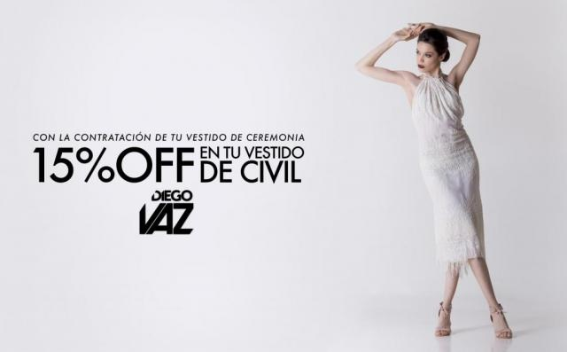 15% OFF EN VESTIDO DE CIVIL
