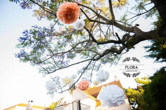 Flores de papel de seda | Casamientos Online