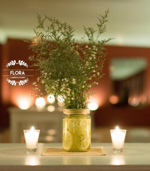 Centros de mesa con limones | Casamientos Online