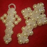 Collar para novias con cruz de perlas