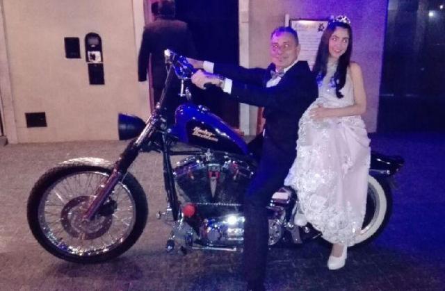 Harley Davidson azul