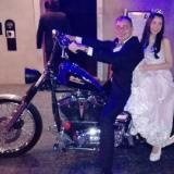 Entrada Original en una Harley Davidson