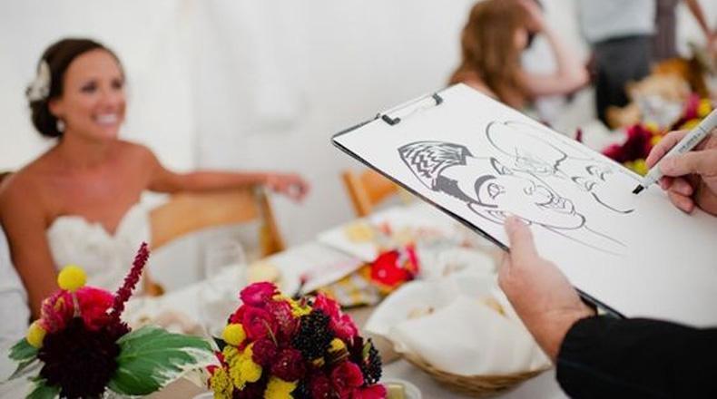 Caricaturistas en casamientos