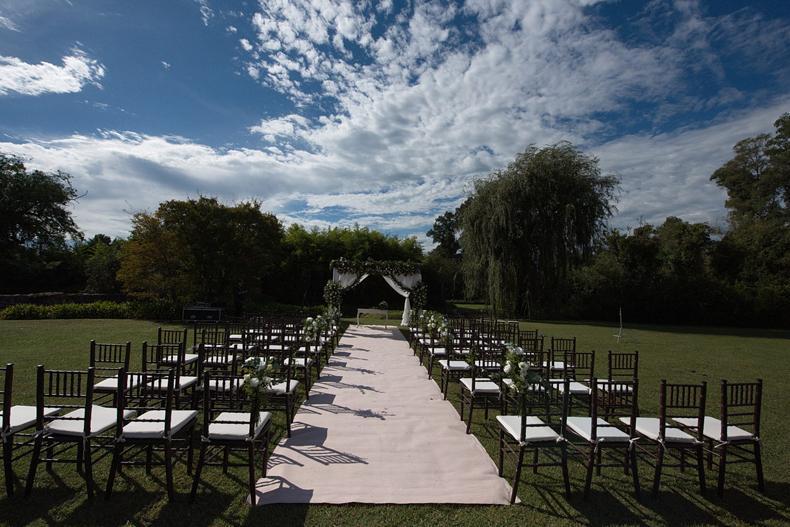 casamientos en quintas y estancias. organizar ceremonia al aire libre