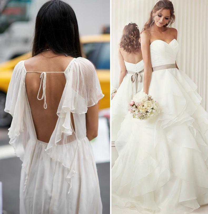 Volados en los Vestidos de novia