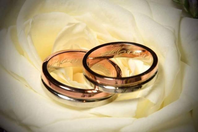 ALIANZAS CINTA 2 COLORES | Casamientos Online