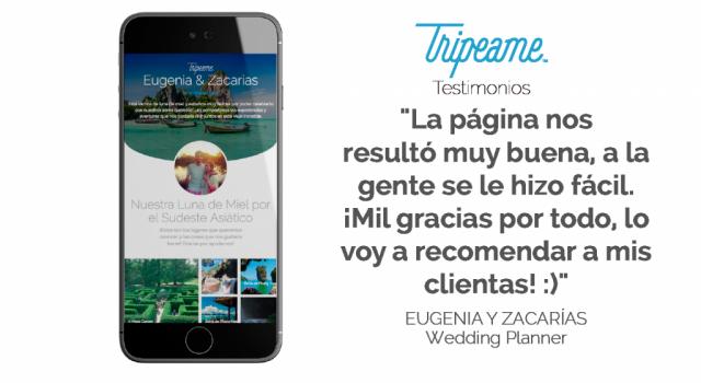 Tripeame (Listas de Regalos) | Casamientos Online