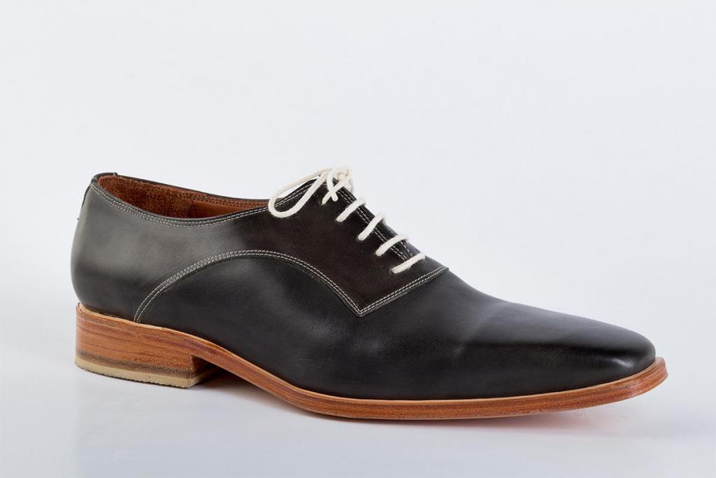 Zapato de cuero Verde Oscuro