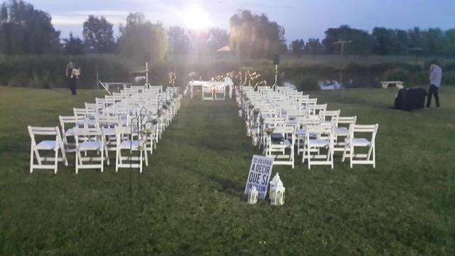 Ceremonia al aire libre. | Casamientos Online
