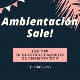PROMO 10 OFF EN NUESTROS PAQUETES DE AMBIENTACIÓN