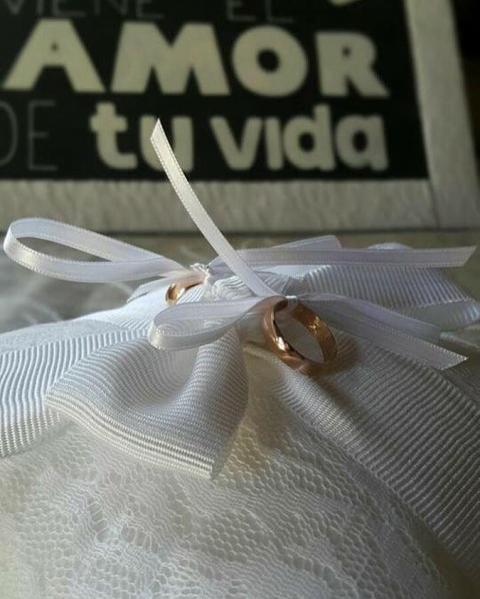 Pillow para los anillos en la ceremonia