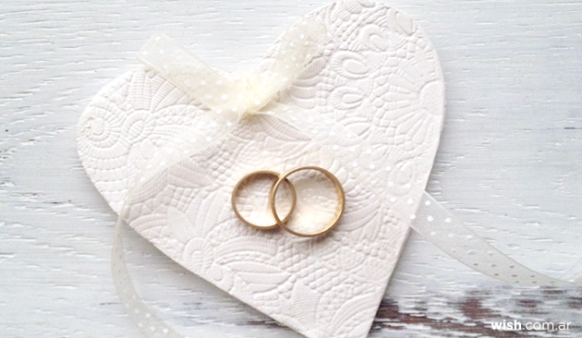 Corazón de cerámica | Casamientos Online