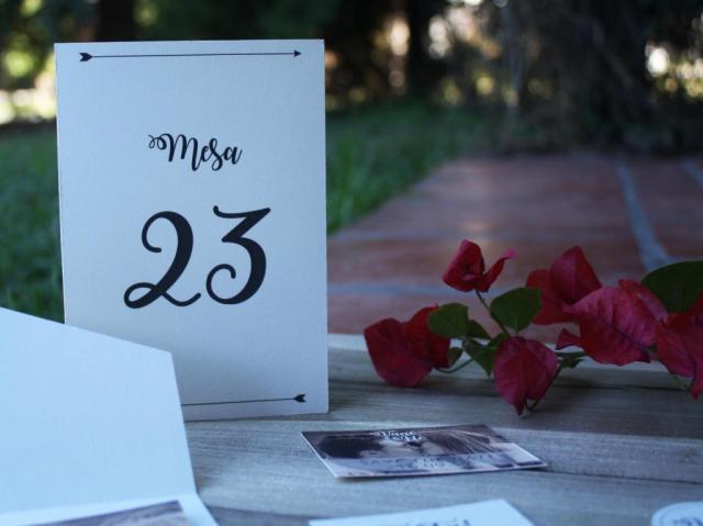 Numero de mesa | Casamientos Online